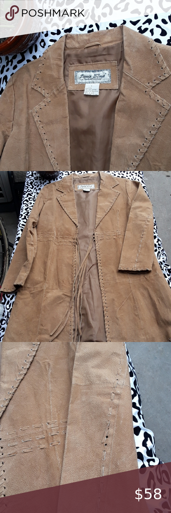 Paris Blue Leather Suede Jacket Leather Coat Runs Small A Few Broken Threads In Elbow As Jacket Has A Stiff Fit Paris Suede Jacket Leather Coat Blue Leather [ 1740 x 580 Pixel ]