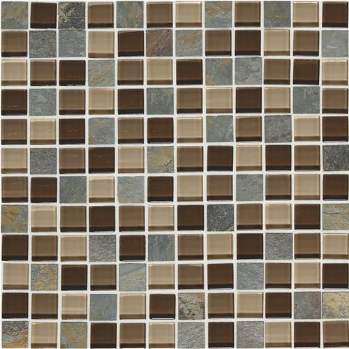 Mohawk Phase Mosaics Glass Wall Tile 1 X 1 At Menards Bathroom Backsplash