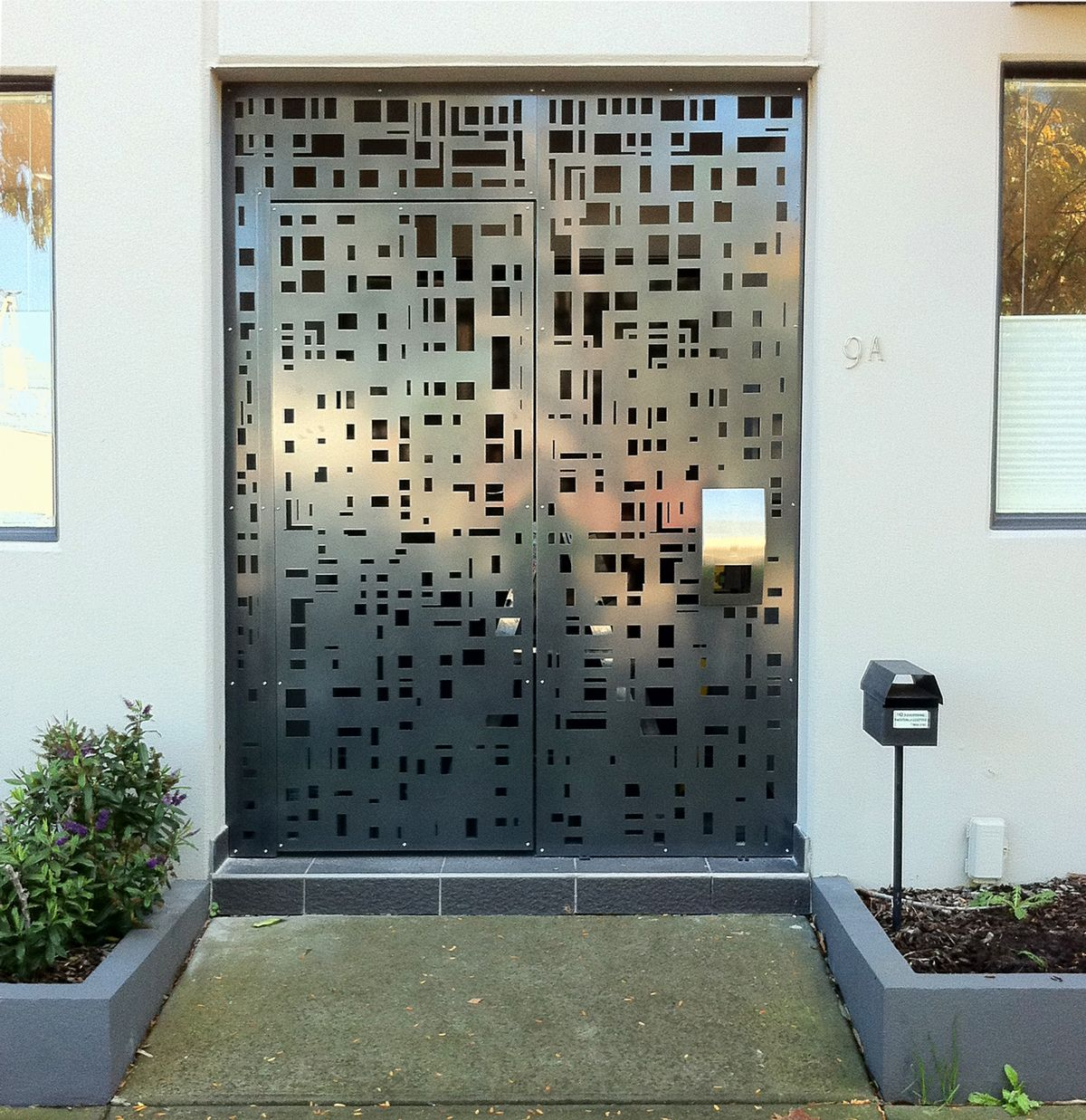 Lazer Cut Metal Screen Door For Front...perhaps This Is Where We Do