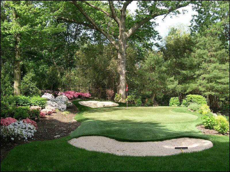 Professional Backyard Golf Putting Green Installation ... on Putting Green Ideas For Backyard id=50088