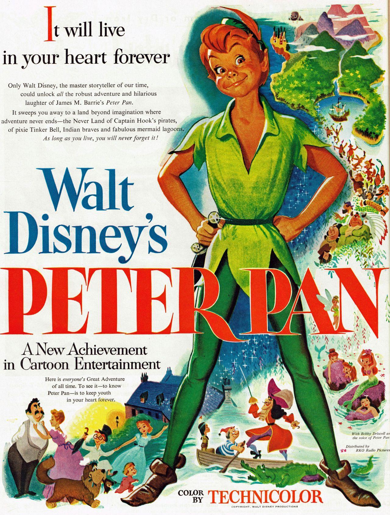 Peter Pan, 1953 | Movie Posters in 2018 | Pinterest | Peter pan 1953 ...