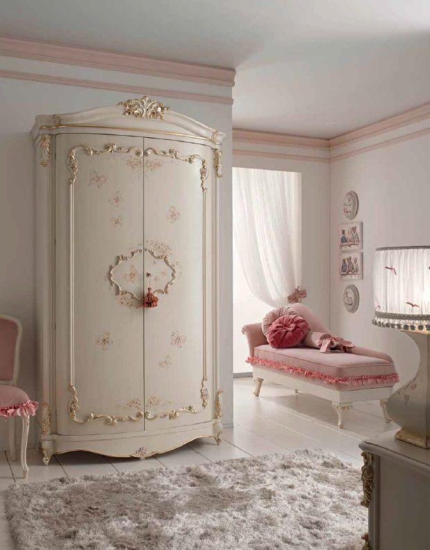 Классический шкаф Orleans для детской комнаты девочки от фабрики ...