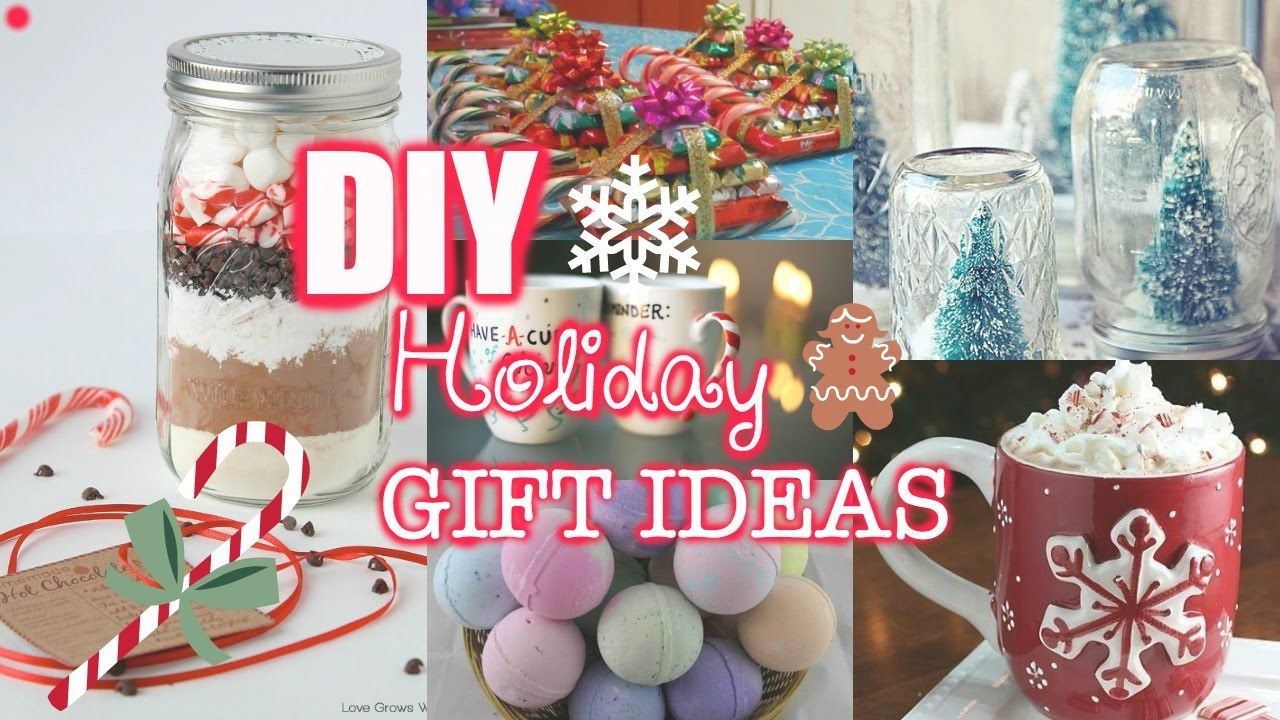 Last Minute DIY Holiday Gift Ideas! - YouTube | Diy ...
