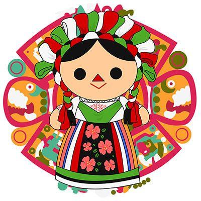Maria mueca mexicana Mexican doll  Viva mexico and Stationery