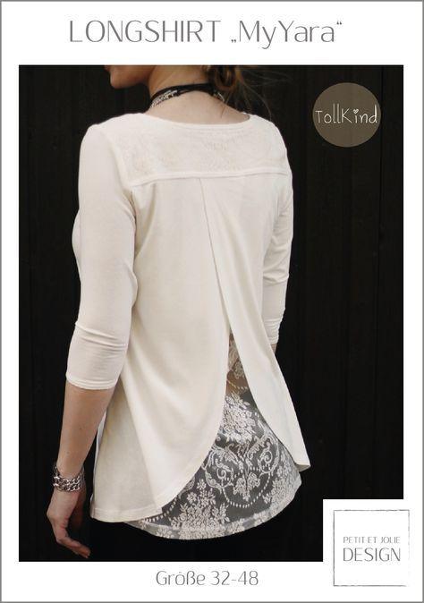 LONGSHIRT 'MyYara' Gr. 32-48 - Ebook Petit et Jolie Design #sewinglessons