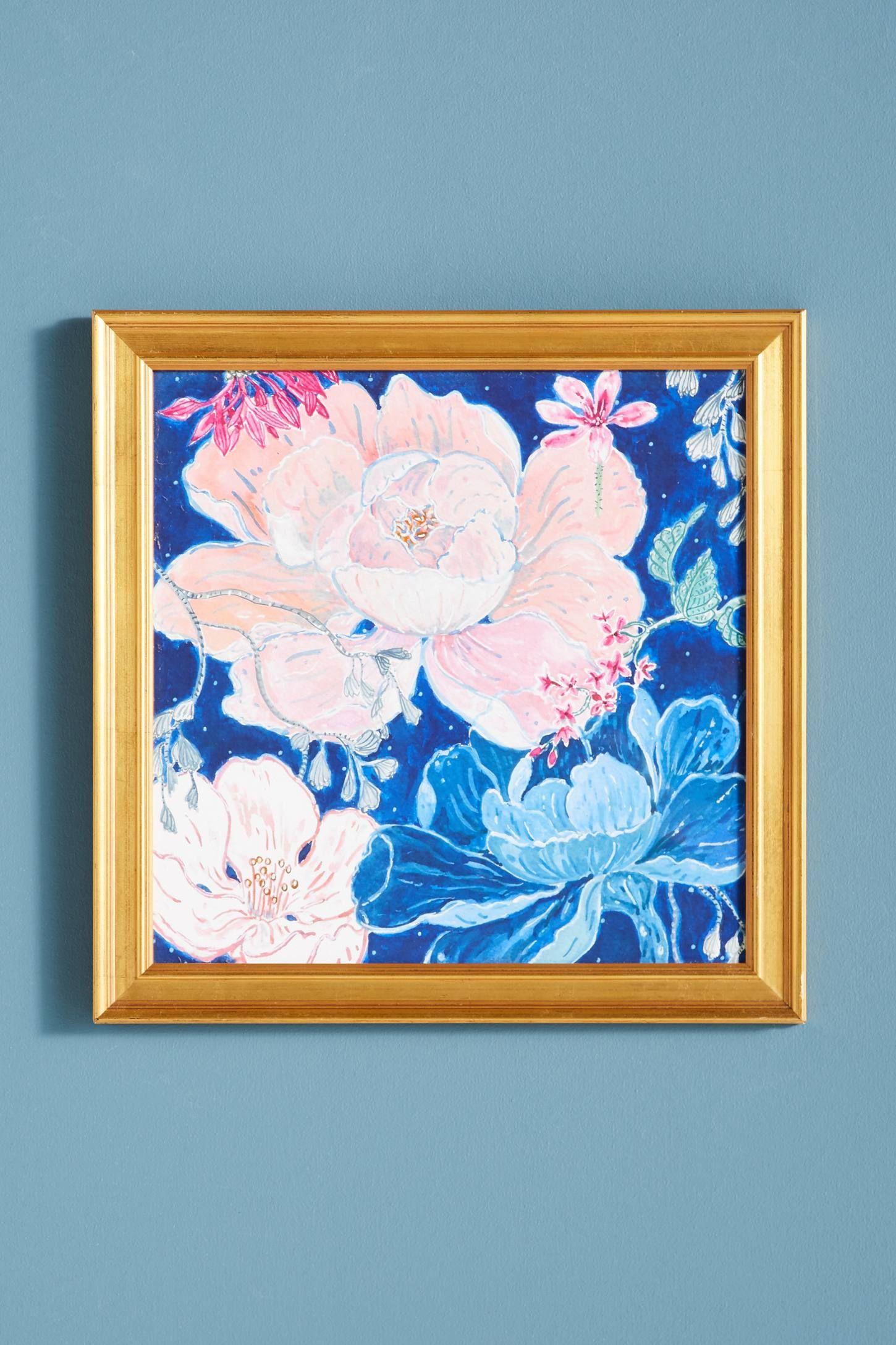 Blue floral wall art floral wall art and floral wall