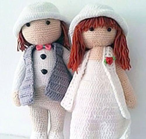 CROCHET WEDDING COUPLE wedding gift by NittaCrochetCrafts on Etsy