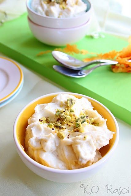 Classic Shrikhand (Thickened Yogurt with Cardamom, Saffron, and Pistachios)