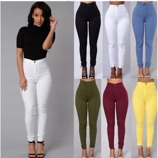 Womens Casual Office Stretch Denim Pants Ladies Slim Fit Skinny Jeans Trousers