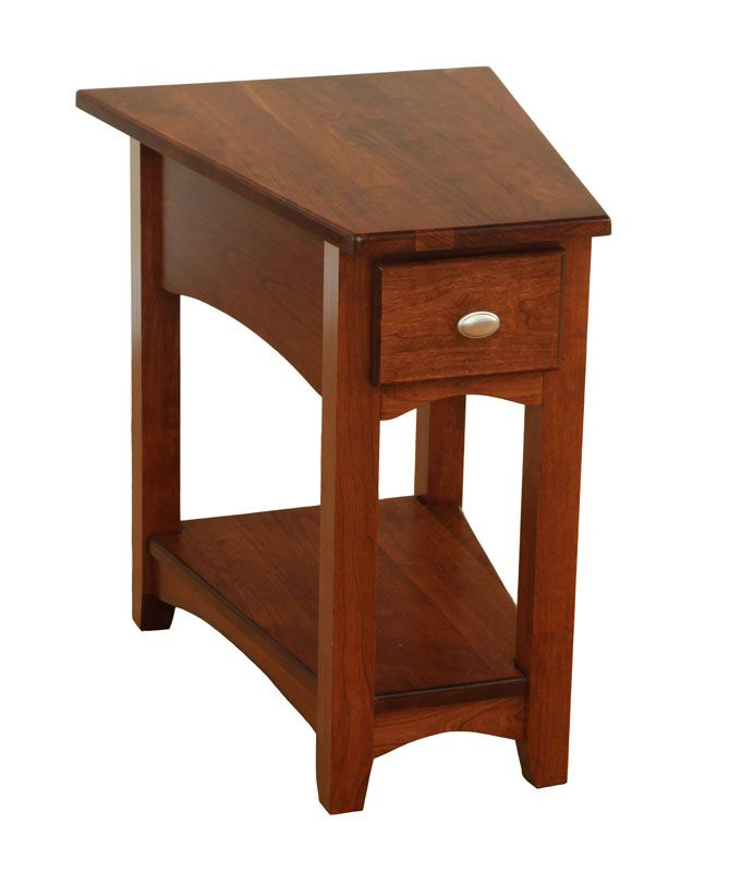 Attractive Modern Side Table In Cherry Finish   The Best Inexpensive Table Made Of  Hardwood.
