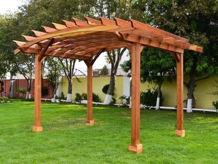 Pergolas de madera para el jardín - más de cincuenta ideas   Pergolas