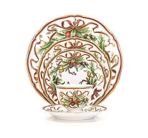 Tiffany Co Tiffany Holiday Br Place Setting Christmas China Patterns Christmas Dinnerware Christmas Tableware