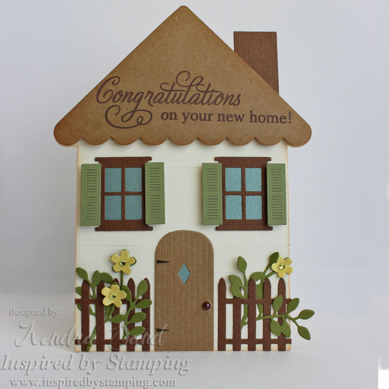 Inspired By Stamping Big Congrats Stamp Set House Shaped