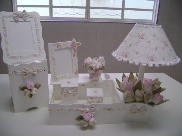 kit higiene tulipas baby Mdf artesanato, Kit higiene e Kit higiene mdf -> Como Decorar Kit Higiene Bebe Com Tecido
