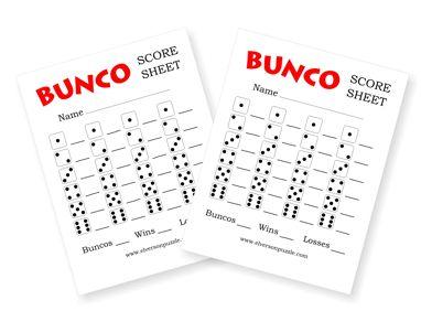 Bunco Score Sheet  ItS Bunco Time    Bunco Party