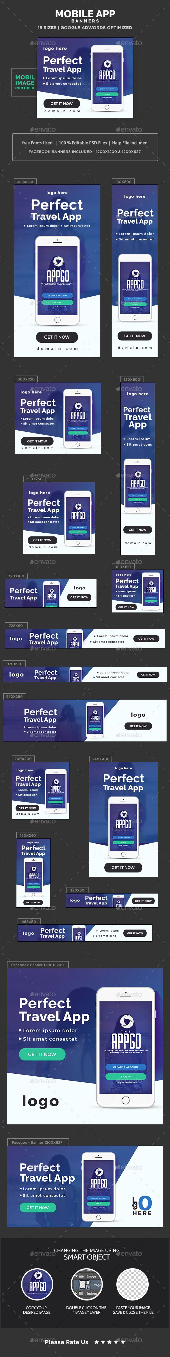 App Store Banners Design Template - Banners & Ads Web Elements Template PSD…
