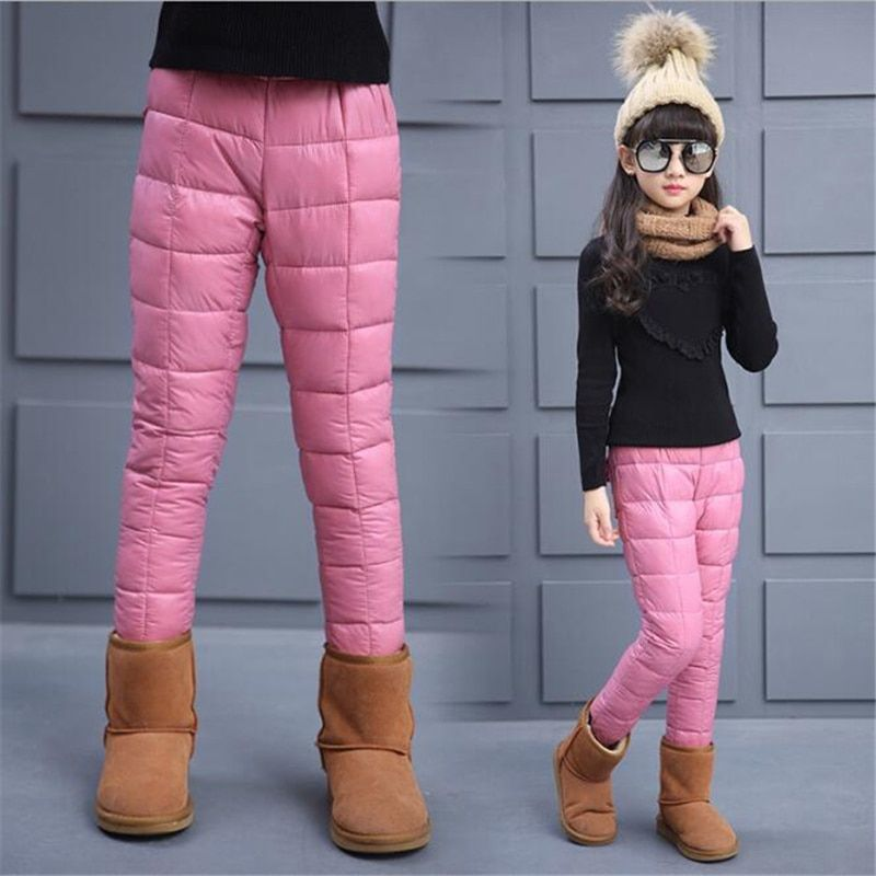 71166adc8 Winter Warm Children Clothes Down Cotton Kids Baby Leggings For ...