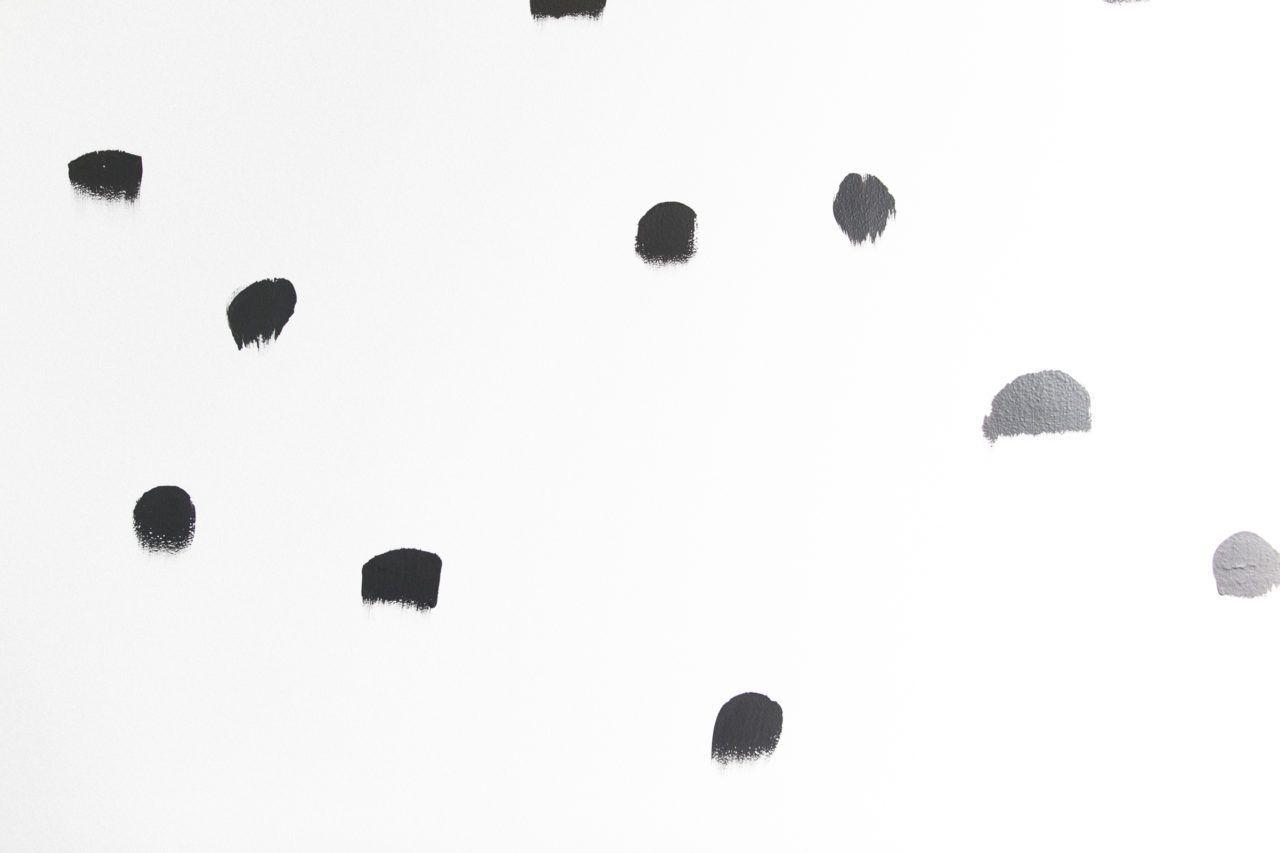 Diy Brush Stroke Inspired Polka Dot Wall Polka Dot Walls Accent Wall Bedroom Paint Wall Murals Diy