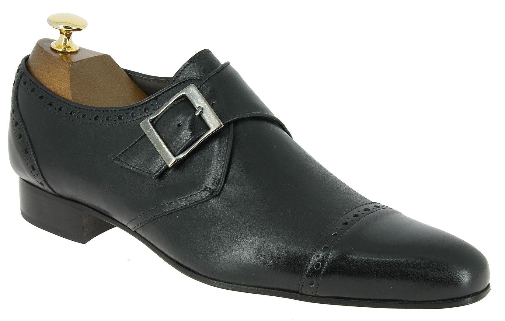 5f9394ac48d Center 51 vous présente le modèle Chaussure à boucle new Italianissimo  pirate cuir noir à 79