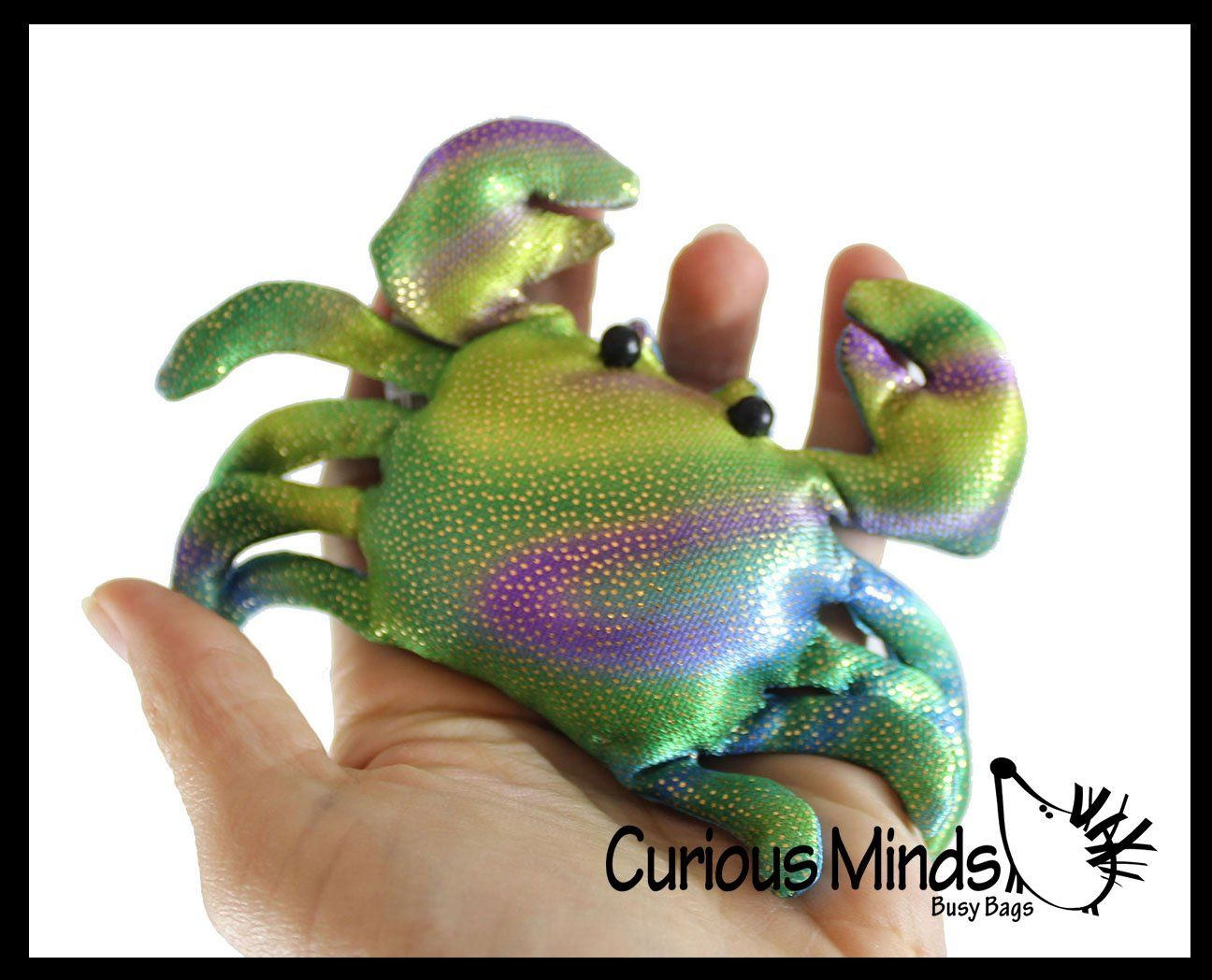 Sand Filled Stuffed Animals, Crab Sand Filled Animal Toy Heavy Weighted Sandbag Animal Plush Bean Bag Toss Shimmering Glitter In 2020 Pet Toys Plush Animals Toys