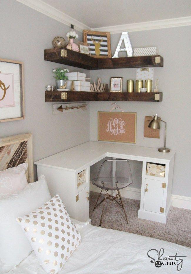 diy corner desk  small bedroom furniture bedroom