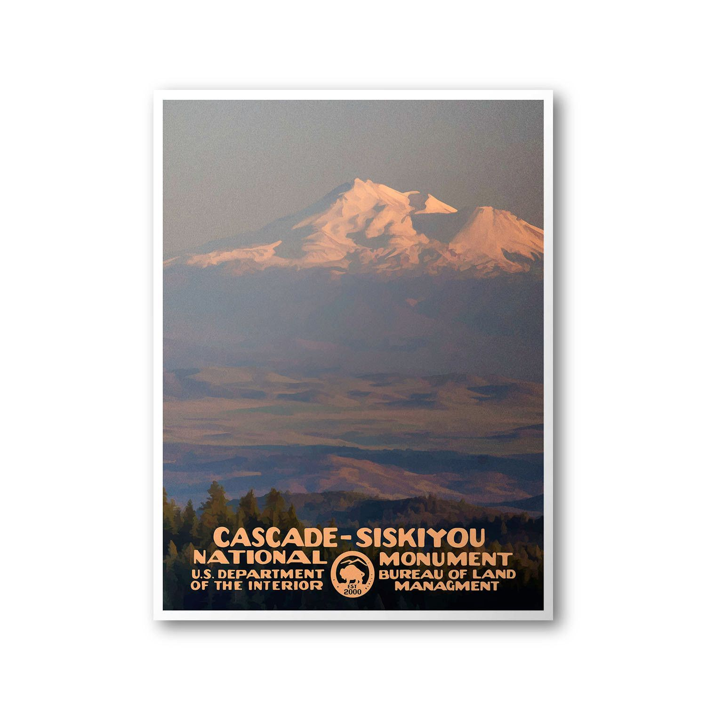 CascadeSiskiyou National Monument Travel Poster