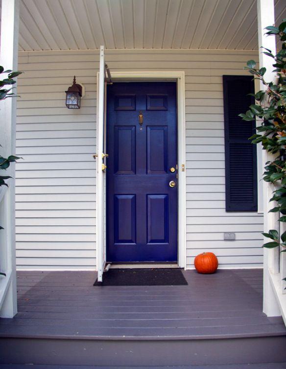 Our Front Door Painted In Benjamin Moore S Midnight Navy
