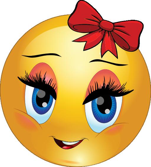 emoticon funny smiley girly smileys emoticons clipart