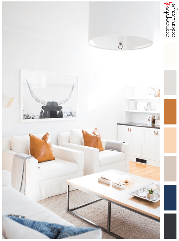 Posh Farmhand Concepts And Colorways Living Room Orange Burnt Orange Living Room Pretty Living Room #orange #and #white #living #room