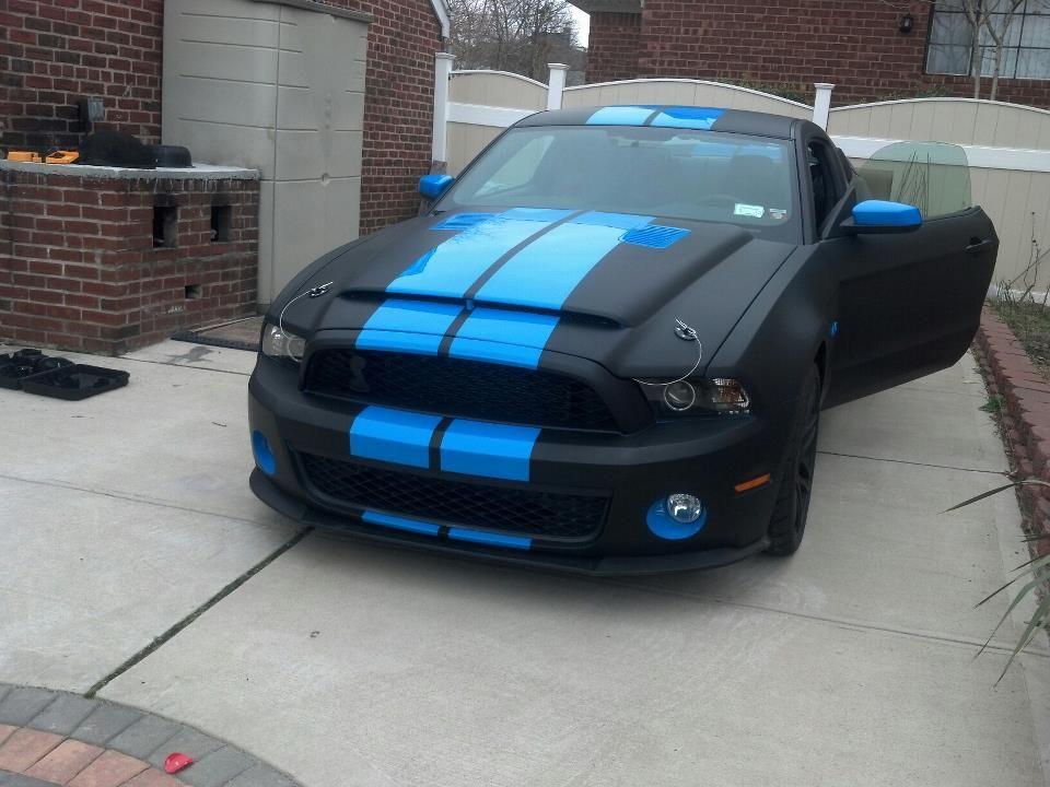 matte black w gloss grabber blue stripes  Dream cars 3