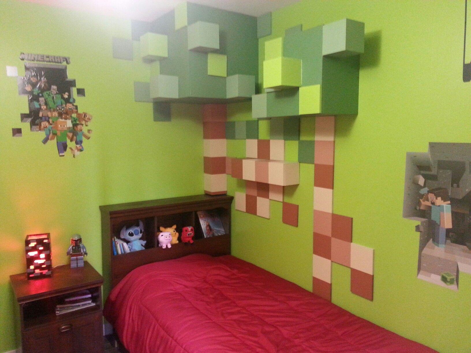 chambre minecraft chambre minecraft room minecraft. Black Bedroom Furniture Sets. Home Design Ideas