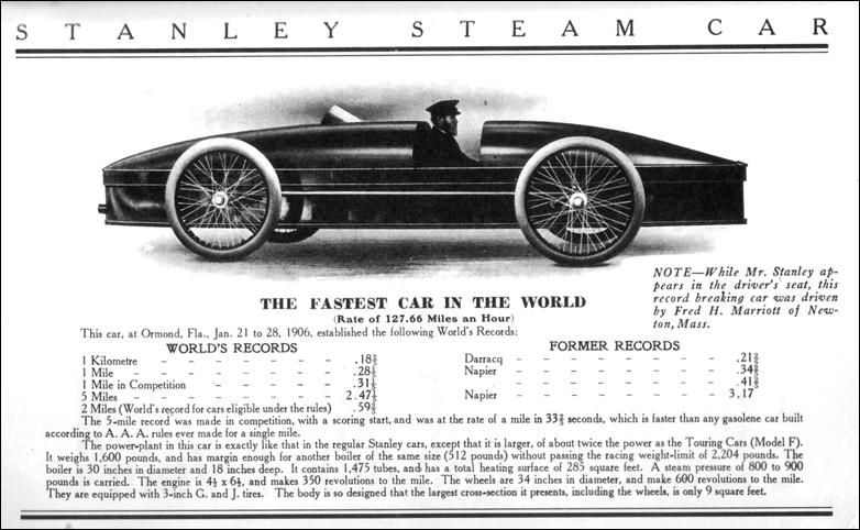 Amazing Stanley Steam Car With Images Fast Cars Car In The