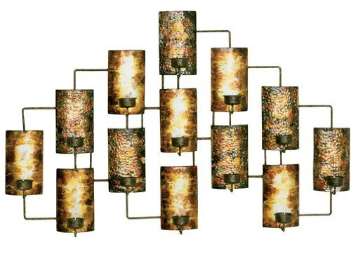 Welcome Home Accents Aged Gold Metal Votive Candle Holder Wall Decor Wall Candle Holders Wall Mounted Candle Holders Candle Wall Art