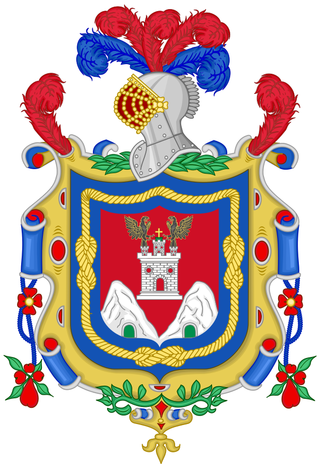Coat Of Arms Of Quito Flag Of Quito Wikipedia Flags Heraldry