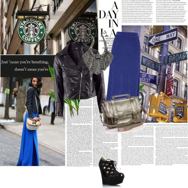 """""""blue skirt"""" by yasminwinder ❤ liked on Polyvore"""