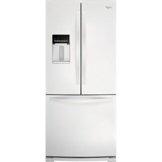 Whirlpool 20 Cu. Ft. French-Door Refrigerator w/External Dispenser- White | The Brick