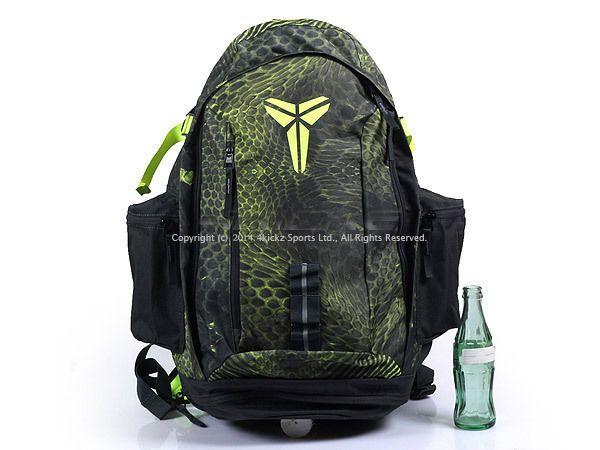 cheap for discount bc217 30a53 Nike Kobe Max Air 9 IX Snake Print Backpack   BookBag Black-Volt 2014  BA4852-716  Nike  BackpackBookBag