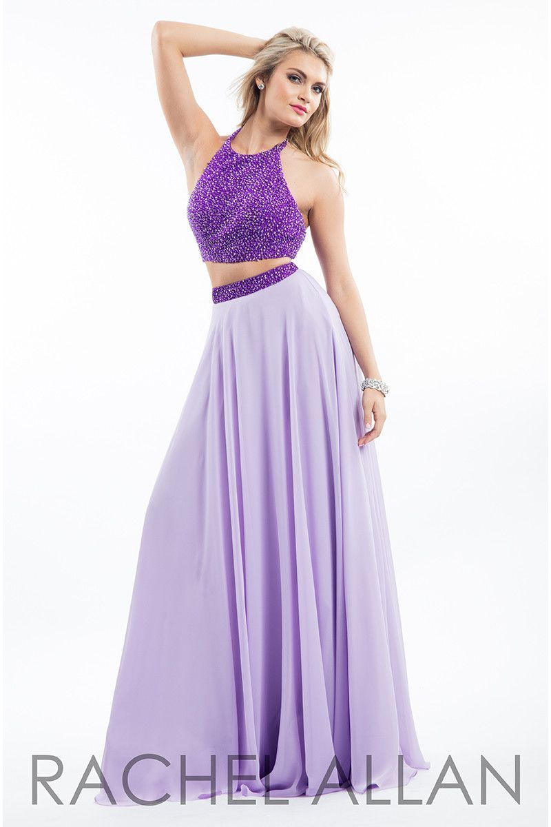 Rachel Allan 7566 Purple/Lilac Two Piece Prom Dress