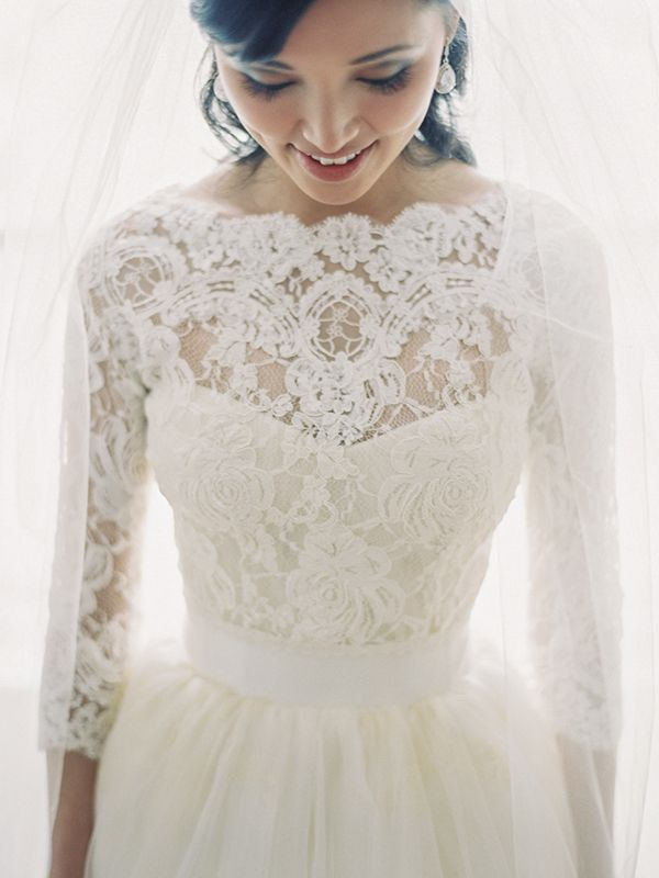 bridal gown with long lace sleeves - Traditional Wedding Dress ...