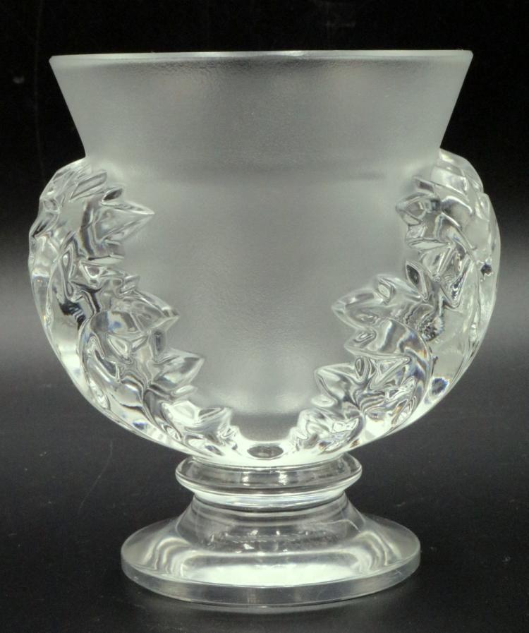 Lalique St Cloud Crystal Vase Lalique Pinterest Crystal