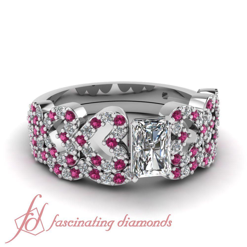 ct radiant cut vvs diamond u pink sapphire engagement rings men