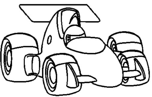 Race Car Formula One Coloring Page Race Car Car Coloring Pages