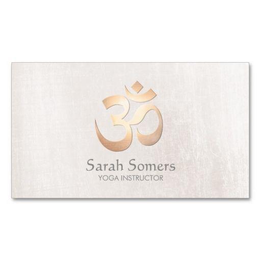 Om symbol yoga and meditation elegant off white business card make om symbol yoga and meditation elegant off white business card make your own business card colourmoves