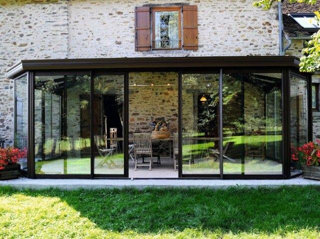La véranda agrandit la maison Vérandas, La maison et Maisons - Agrandissement Maison Bois Prix M