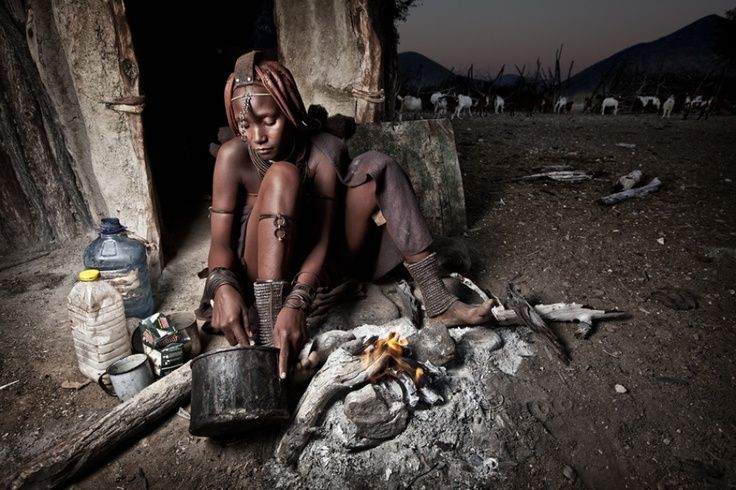 Himba tribe Breakfast time Photography by Ben McRae