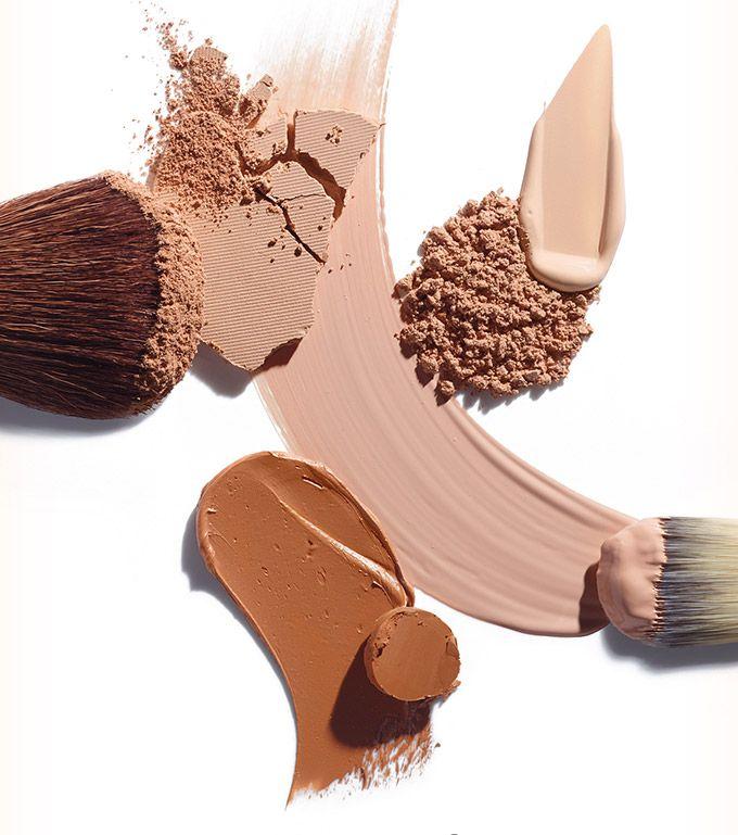 Makeup foundation texture