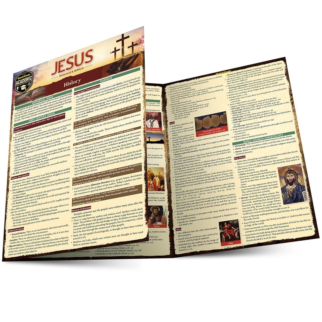 QuickStudy Jesus Historical & Biblical Laminated Study