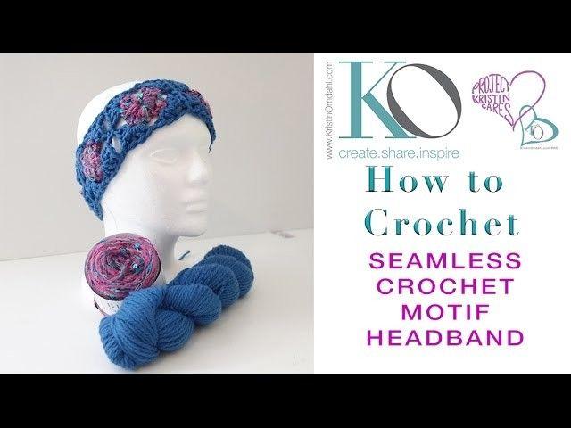 Seamless Motif Crochet Headband | Crochet | Pinterest