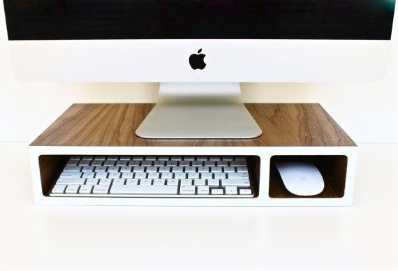 Monitor Stand | Riser | Walnut + Colored Laminate | 3 sizes ...