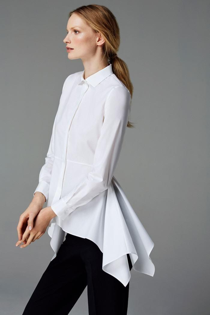 CH Carolina Herrera Woman - White Shirt Collection - Fall 2016 · The ShirtWhite  BlousesWhite ShirtsWhite TopsDress ...